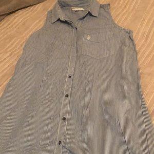 A&F button up dress